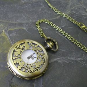 """Kapesní hodinky """"cibule"""" - starobronzové č. 2. - 1 ks"""