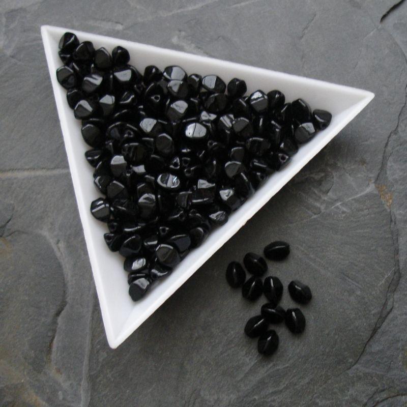 Korálky pohanka 5mm - 23980 - černá