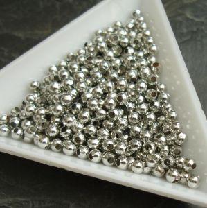 Korálek kulička 3mm - platinová - 100 ks