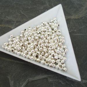 Korálek kulička 3mm - stříbrná - 100 ks