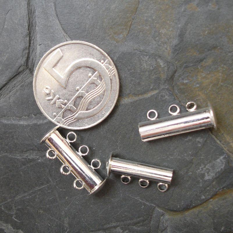 Magnetické zapínání 3ř cca 20x10mm - stříbrné