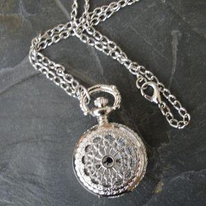 """Komponent malé kapesní hodinky """"cibule"""" s ornamentem III. - platinový - 1 ks"""