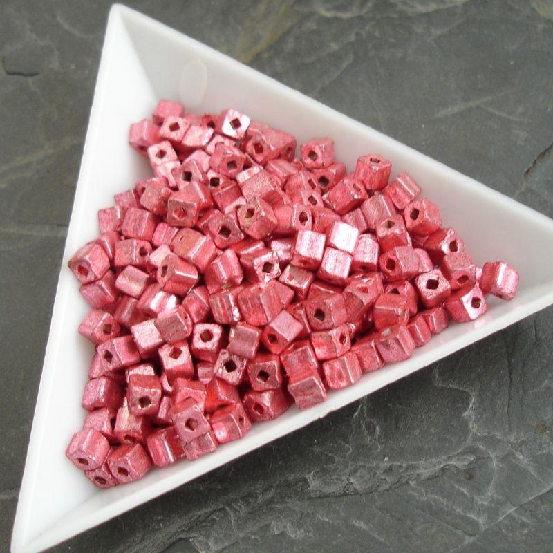 okajl kostičky cca 3-3,3mm - růžové - 10 g