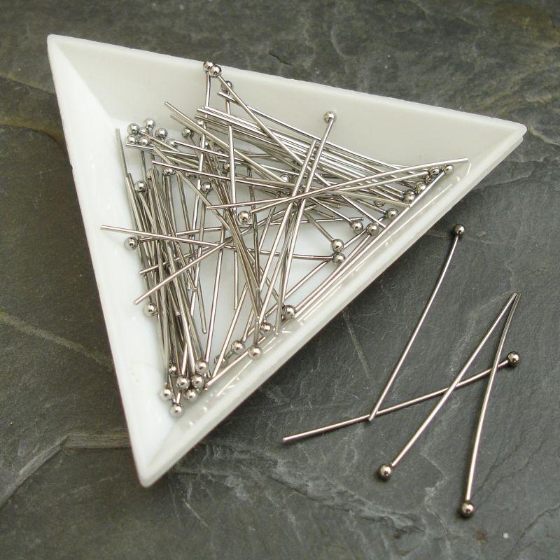 Ozdobné ketlovací nýty s kuličkou 25x0,7mm - nerezová ocel 304 (Stainless Steel)