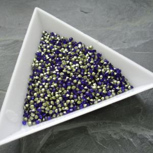 Skleněné šatony cca 1,6 - 1,7 mm - modré - 50 ks