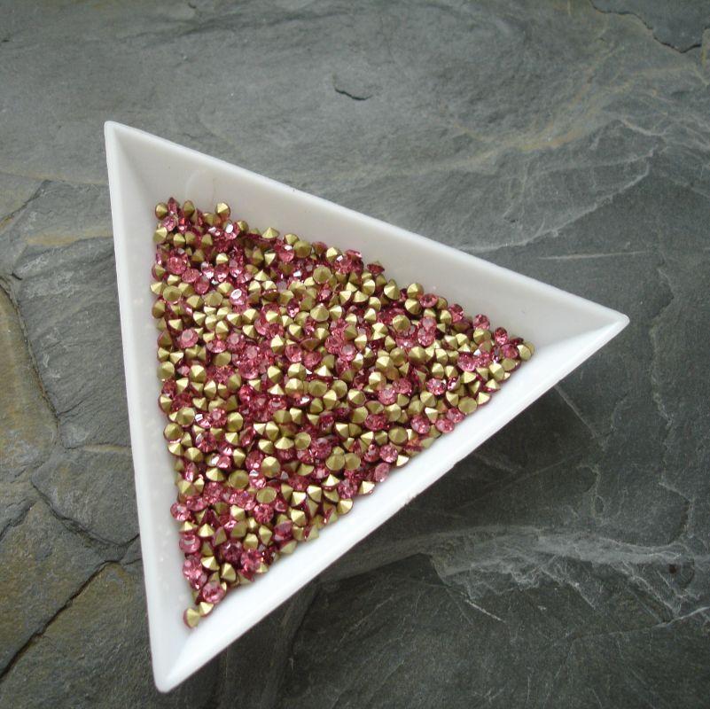 Šatony cca 1,6 - 1,7 mm - tmavě růžové - 50 ks