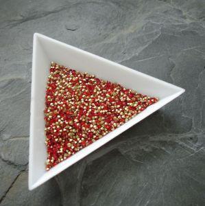 Skleněné šatony cca 1,7 - 1,8 mm - červené - 50 ks