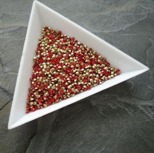Skleněné šatony cca 1,9 - 2,0 mm - červené