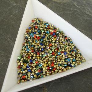 Skleněné šatony cca 1,9-2,0 mm - mix barev I. - 50 ks