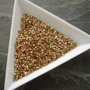 Skleněné šatony cca 2,1 - 2,2 mm - broskvové
