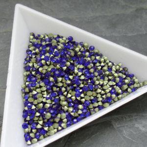 Skleněné šatony cca 2,1 - 2,2 mm - modré