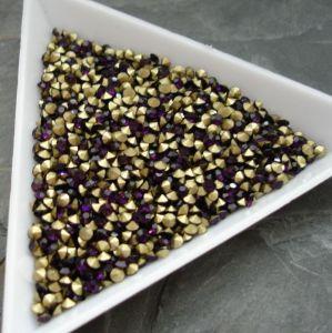 Skleněné šatony cca 2,1 - 2,2 mm - tm. fialové