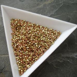 Skleněné šatony cca 2,4 - 2,5 mm - broskvové