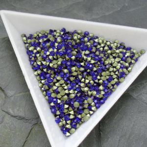 Skleněné šatony cca 2,4 - 2,5 mm - modré