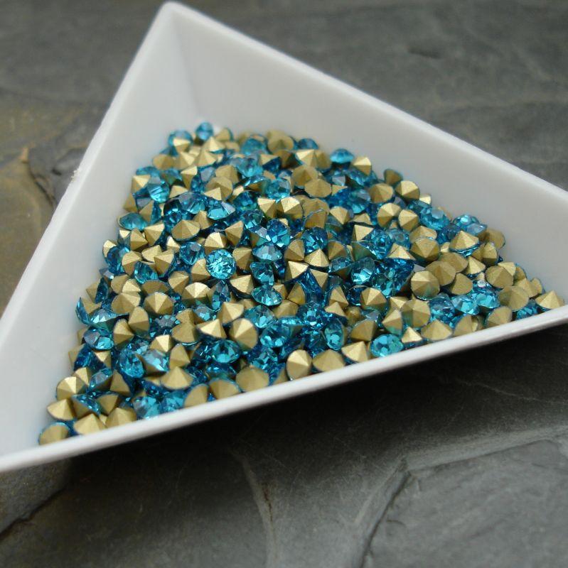 Šatony cca 2,4 - 2,5 mm - modrozelené - 50 ks