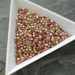 Skleněné šatony cca 2,4 - 2,5 mm - sv. růžové
