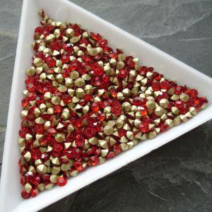 Skleněné šatony cca 2,6 - 2,7 mm - červené