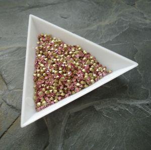 Skleněné šatony cca 2,7 - 2,8 mm - sv. růžové - 50 ks