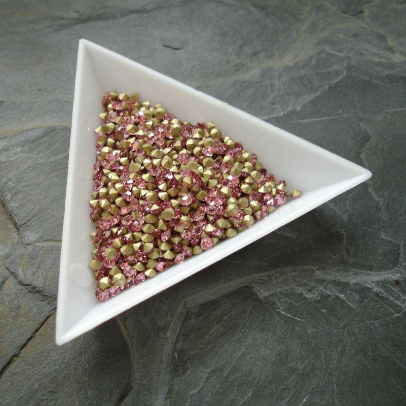 Šatony cca 2,7 - 2,8 mm - sv. růžové