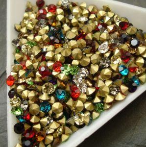 Skleněné šatony cca 3,2-3,3 mm - mix barev I.