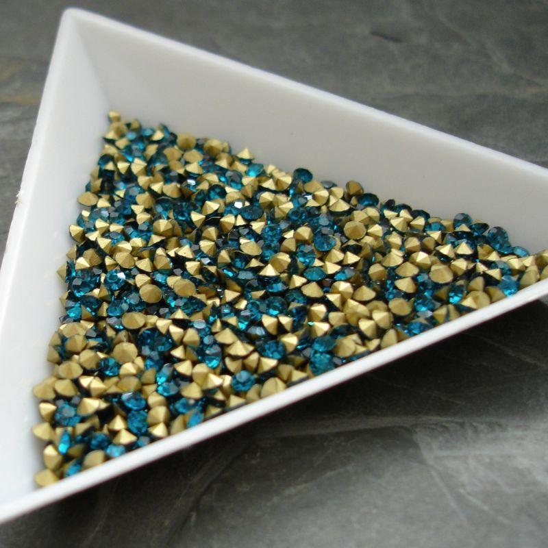 Šatony cca 3,2 - 3,3 mm - modrozelené