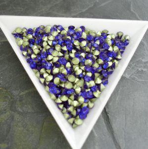 Skleněné šatony cca 4,0 - 4,2 mm - modré - 25 ks