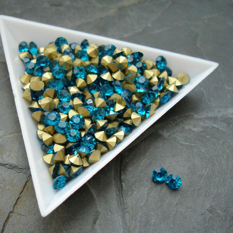 Šatony cca 4,2 - 4,4 mm - modrozelené