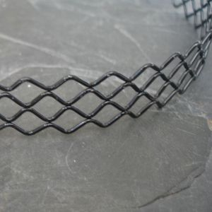 Základ na čelenku 4 vlnky - černý - 1 ks