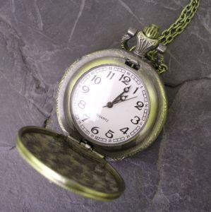 """Kapesní hodinky """"cibule"""" - starobronzové č. 12. - 1 ks"""