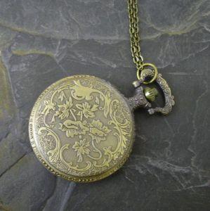 """Kapesní hodinky """"cibule"""" - starobronzové č. 14. - 1 ks"""