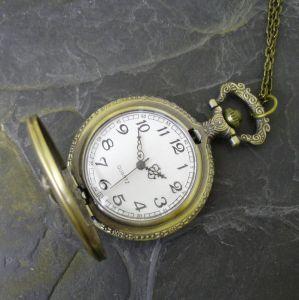 """Kapesní hodinky """"cibule"""" - starobronzové č. 15. - 1 ks"""