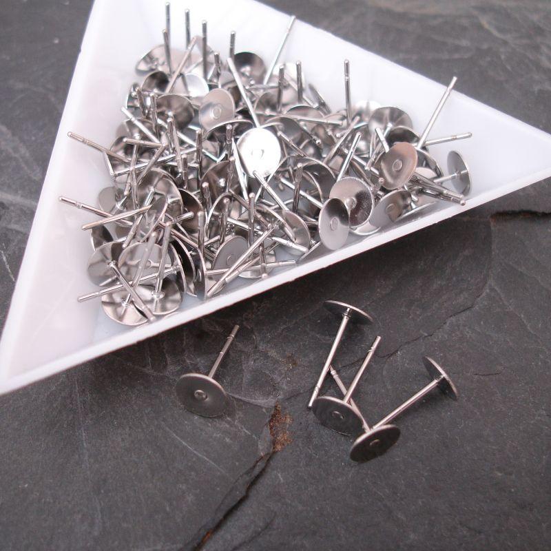 Puzety s ploškou 5mm - nerezová ocel 316 (Stainless Steel) - 10 ks