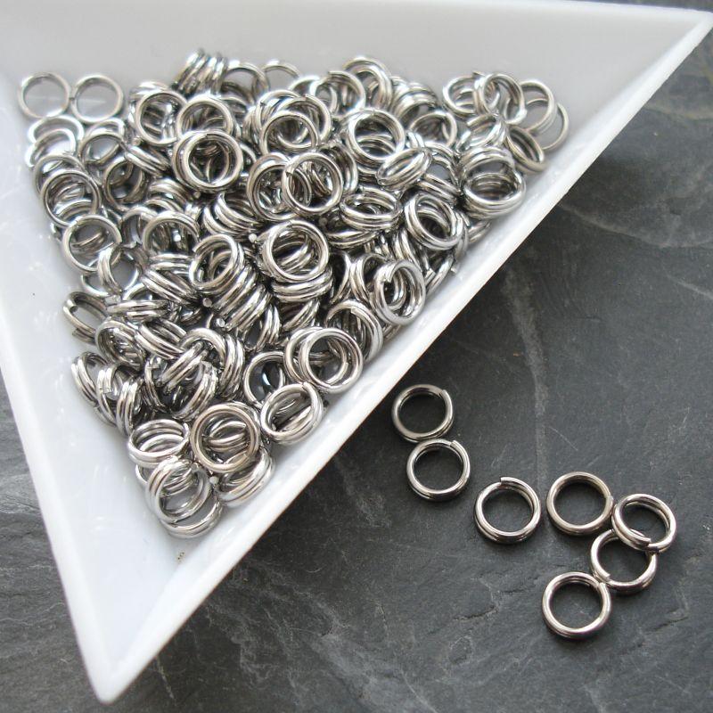 Dvojité kroužky 5x0,6mm nerezová ocel 304 (Stainless Steel) - 10 ks