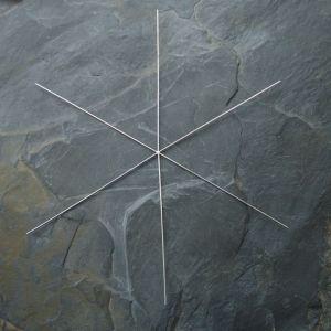Kovový základ na vločku či hvězdu - cca 9,5cm - 1 ks