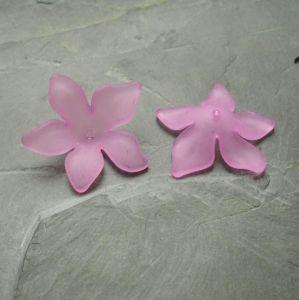 Akrylový květ 29mm - růžovofialový