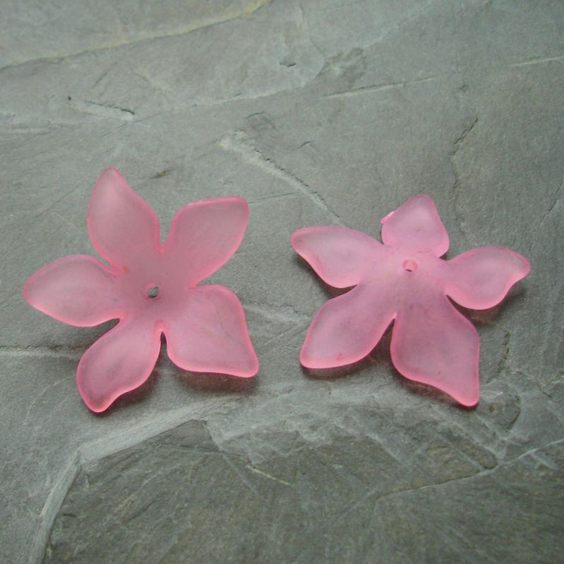 Akrylové kvítky 29mm - sv. růžové - 3 ks