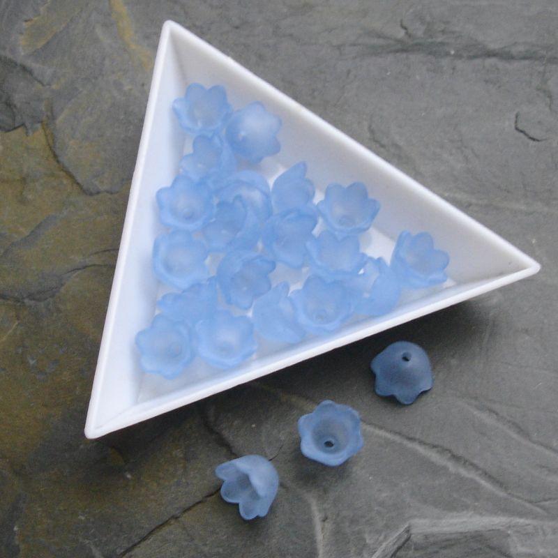 Akrylové zvonečky 10x6mm - modré - 10 ks