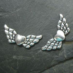 Andělská křídla 22x9mm - starostříbrná