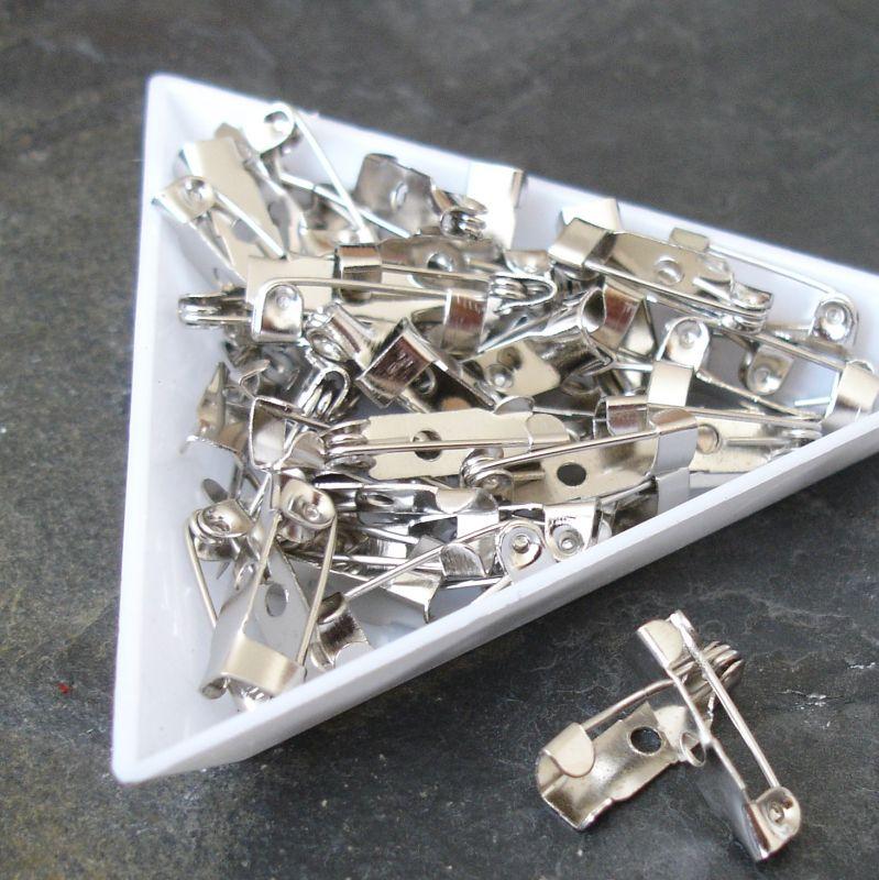 Brožový můstekcca 15x6 mm - platinový - 10 ks