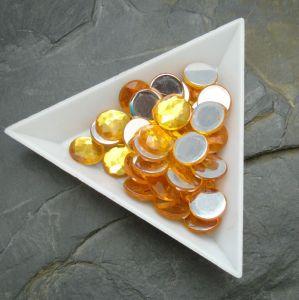 Kamínek akrylový 10mm - žlutý - 6 ks