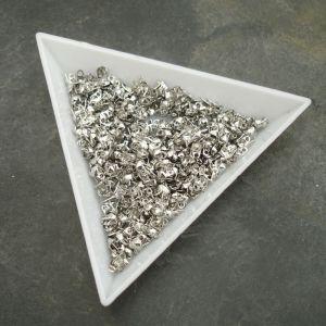 Kalota 4x2mm s očky - platinová