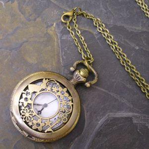 """Kapesní hodinky """"cibule"""" - starobronzové č. 11."""