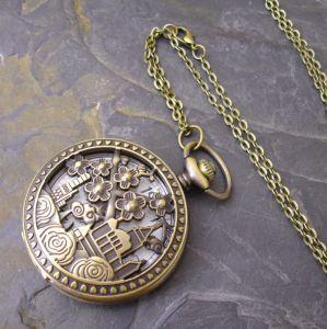 """Kapesní hodinky """"cibule"""" - starobronzové č. 14."""