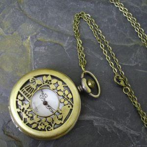 """Kapesní hodinky """"cibule"""" - starobronzové č. 15."""