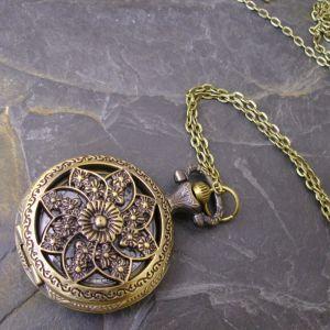 """Kapesní hodinky """"cibule"""" - starobronzové č. 8. - 1 ks"""