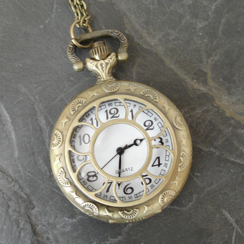 """Kapesní hodinky """"cibule"""" - starobronzové č. 9. - 1 ks"""