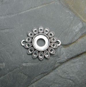 Spojovací díl květ 27x22mm - starostříbrný - 1 ks