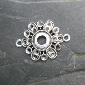 Spojovací díl květ 31,5x23mm - starostříbrný