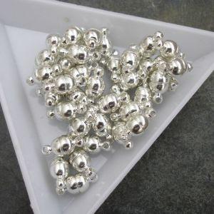 Magnetické zapínání 11x5mm - stříbrné - 1 ks