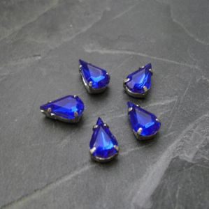 Akrylové kamínky 10x6mm v kotlíku - modré - 1 ks
